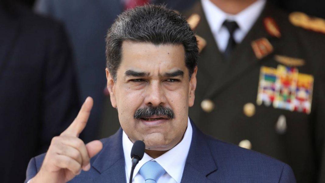 Presidente de Venezuela, Nicolás Maduro, durante conferencia de prensa en Caracas. 12 de marzo de 2020.