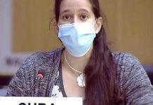 Cuba aboga en Ginebra por un orden internacional justo y equitativo