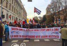 Solidaridad con Cuba en Milan Italia
